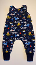 Load image into Gallery viewer, Handmade Romper - Blue Pirates