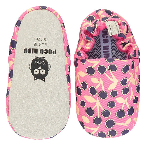 Poco Nido  Cherries Pink Mini Shoes