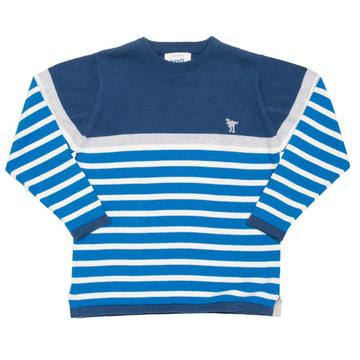 Kite - Dino Stripe Jumper Front