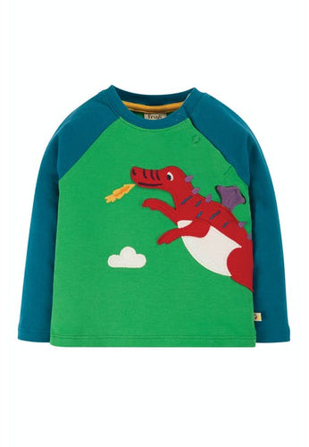 Frugi Little Albert Applique Top - Front
