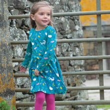 Load image into Gallery viewer, Frugi Indie Exclusive Farmyard Skater Dress Lifestyle