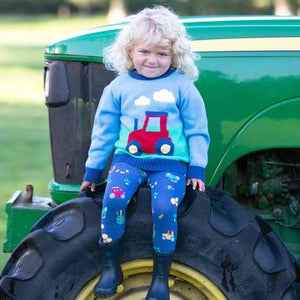 Kite Farm Play Jumper Front - Lifestyle
