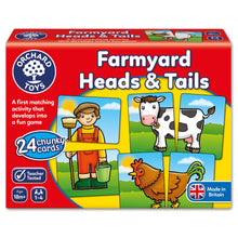 Load image into Gallery viewer, Orchard Toys Farmyard Heads and Tails Game Box
