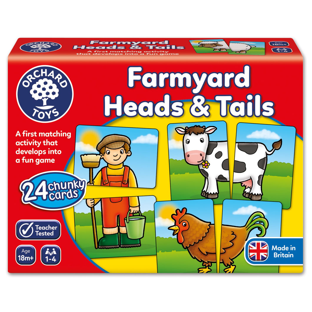 Orchard Toys Farmyard Heads and Tails Game Box