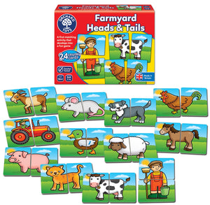 Orchard Toys Farmyard Heads and Tails Game Box & Contents