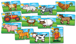Orchard Toys Farmyard Heads and Tails Game Cards