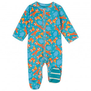 Piccalilly Fox Print Sleepsuit