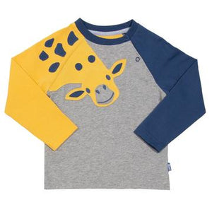 Kite Giraffe T-Shirt with Poppers