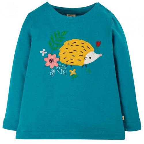 Frugi Hedgehog Applique Top Front