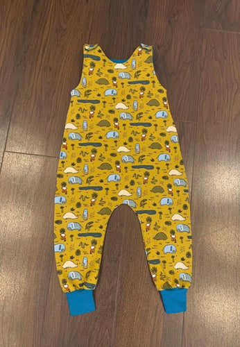 Handmade Romper Jungle Animals Print
