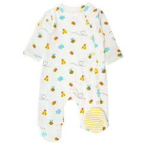 Piccalilly Little Wings Footed Sleepsuit
