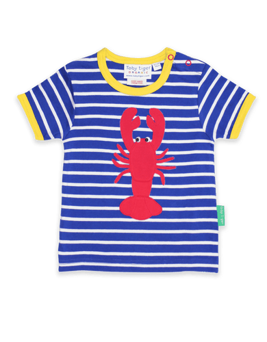 Toby Tiger Lobster Applique T-Shirt