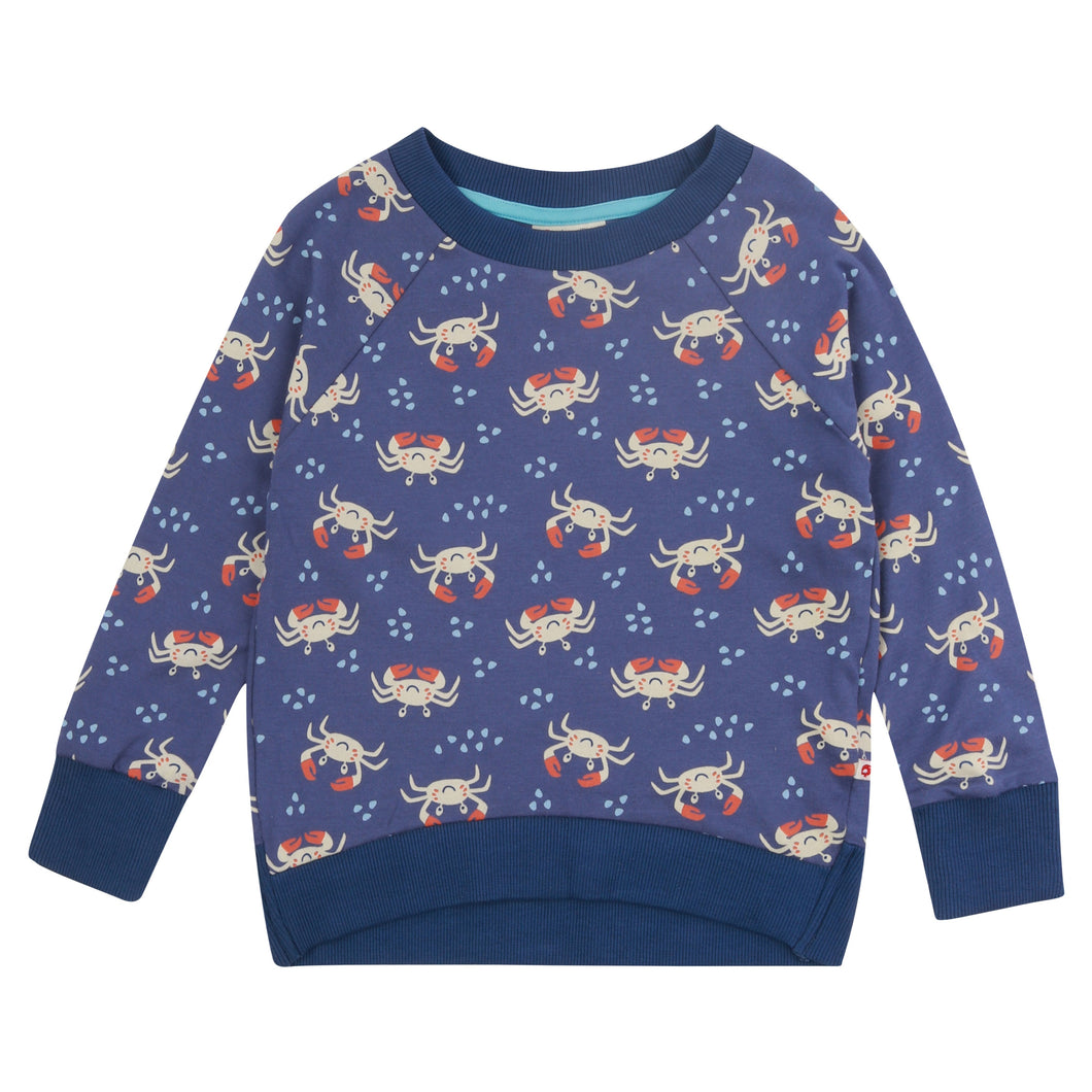 Picalilly Ocean Crab All Over Print Sweatshirt
