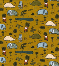 Load image into Gallery viewer, Jungle Animals Print Fabric