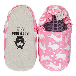 Poco Nido Rabbits Pink Mini Shoes