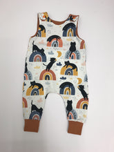 Load image into Gallery viewer, Handmade Rainbow Cats Romper