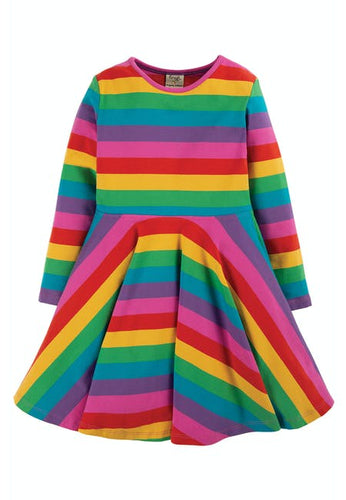 Frugi - Rainbow Skater Dress Front