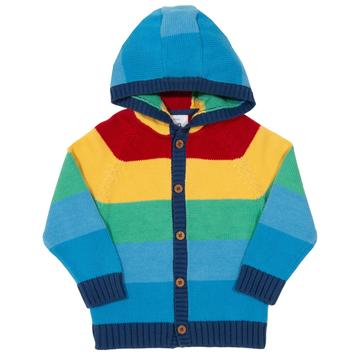Kite Rainbow Stripe Hoody Front
