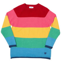 Load image into Gallery viewer, Kite Rainbow Jumper Front (no buttonns)