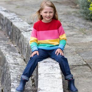 Kite Rainbow Jumper without buttons (lifestyle)