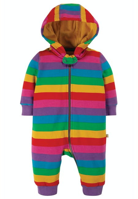 Frugi, Rainbow Snuggle Suit - Front