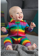 Load image into Gallery viewer, Frugi, Rainbow Snuggle Suit - Lifestyle