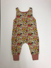 Load image into Gallery viewer, Handmade Romper - Grey Floral Print