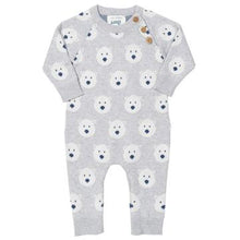 Load image into Gallery viewer, Kite Snow Bear Knitted Romper - Front