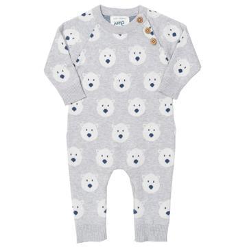 Kite Snow Bear Knitted Romper - Front