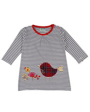 Load image into Gallery viewer, Stripe Applique Robin Dress