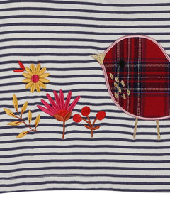 Stripe Applique Robin Dress