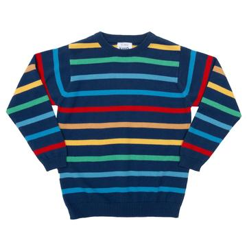 Kite Rainbow Stripe Jumper - Front