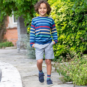 Kite Rainbow Stripe Jumper - Front Lifestyles