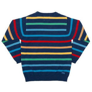 Kite Rainbow Stripe Jumper - Back