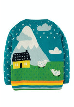 Load image into Gallery viewer, Cuddly Knitted Cardigan, Tobermory Teal/Tractor