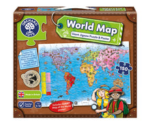 Load image into Gallery viewer, Orchard Toys World Map Puzzle & Poster Box
