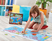 Load image into Gallery viewer, Orchard Toys World Map Puzzle & Poster  Lifestyle
