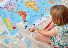 Load image into Gallery viewer, Orchard Toys World Map Puzzle Lifestyle