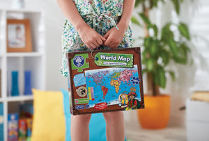 Orchard Toys World Map Puzzle & Poster  Carry Box