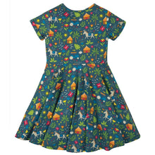 Load image into Gallery viewer, Frugi Spring Skater Dress - Indigo Farm Back
