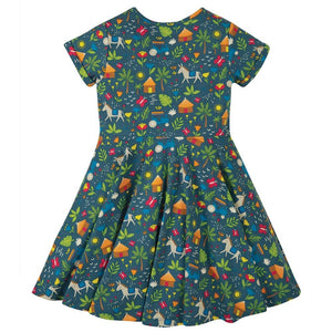 Frugi Spring Skater Dress - Indigo Farm Back
