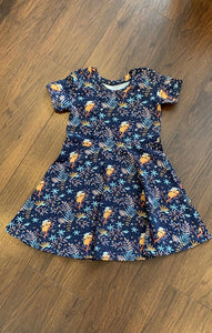 Skater Dress with Short Sleeves (Choice of Fabrics)