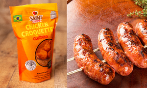 Bundle: Toscana Style Natural Pork Sausage  + Coxinha Just Warm it Up (7lbs)