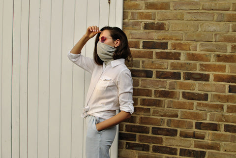 Women wearing Air Filtering Scarf