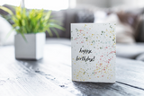 Happy Birthday Splatter Card