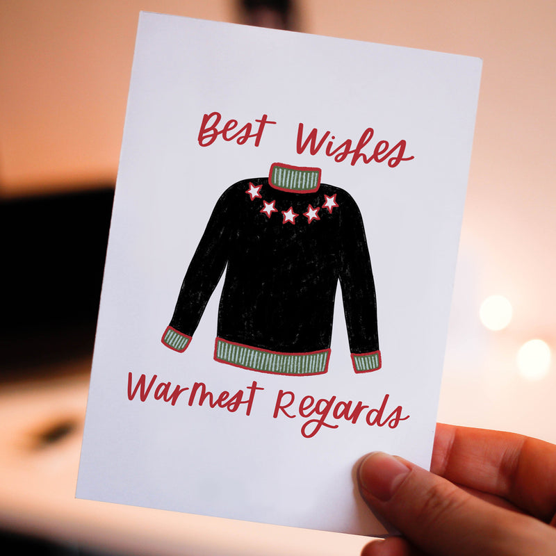 Warmest Regards Winter Card