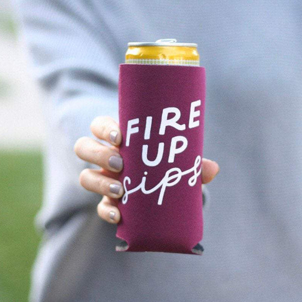 Fire Up Sips Tall Can Cooler