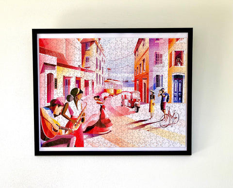 Stunning arty framed jigsaw puzzle