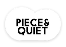 Piece and quiet artistic puzzles logo