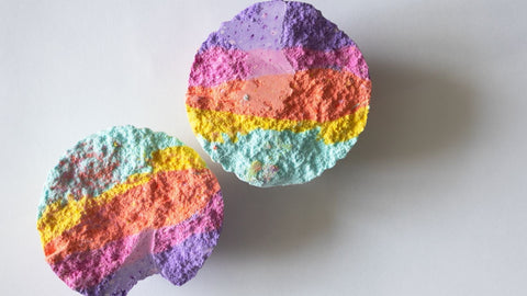 colorful bath bomb